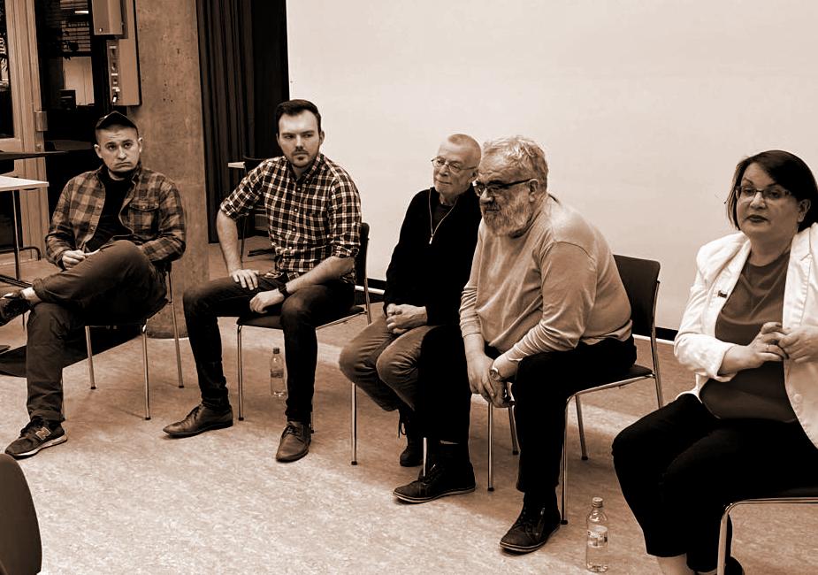 In Stuttgart wurde ein Vortrag über die Menschenrechte in Russland für russischsprachige Zuhörer gehalten