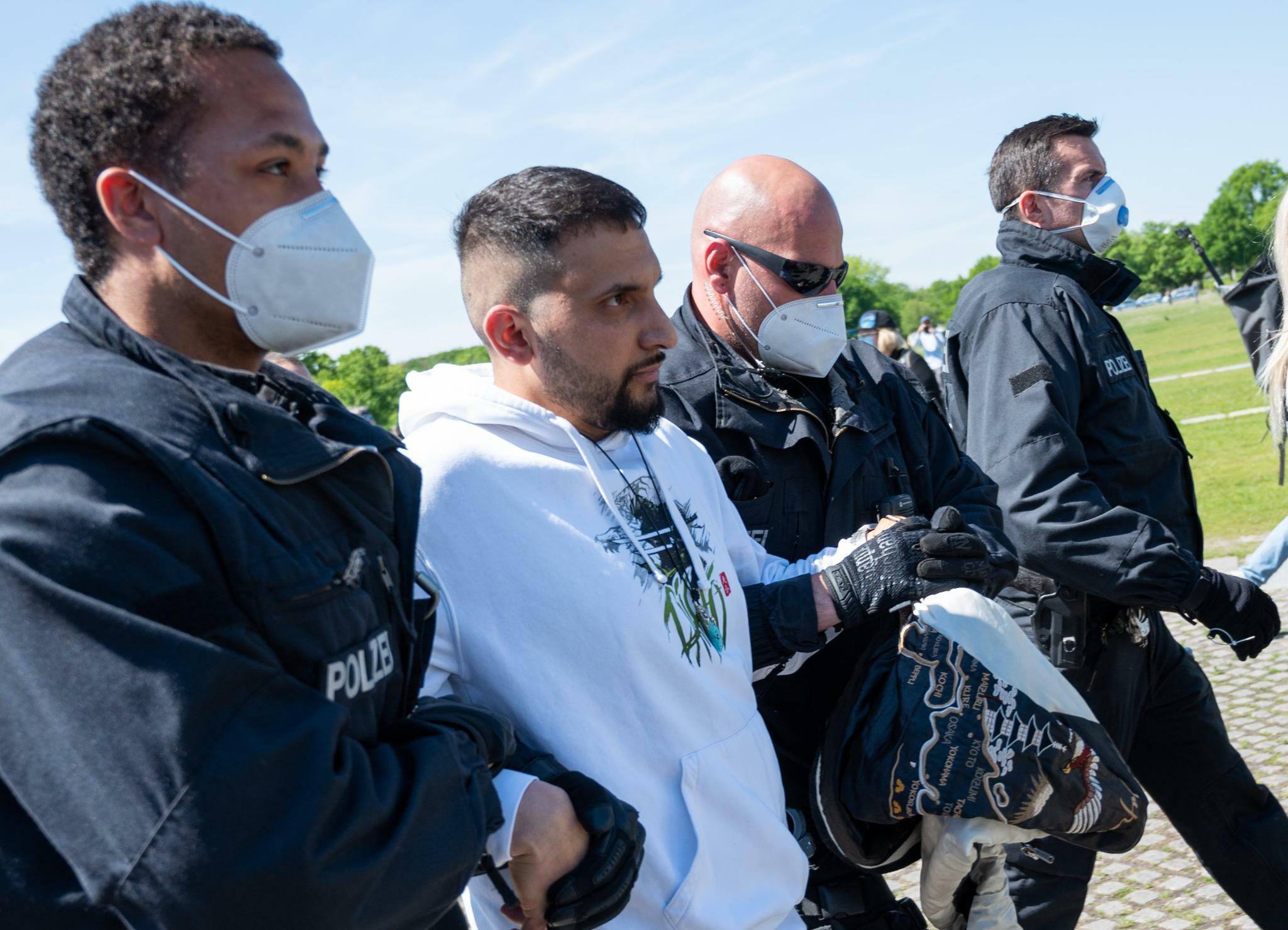 Как в Берлине митинговали корона-скептики