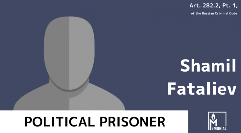 A Muslim from St. Petersburg, convicted of involvement in the banned Takfir wal-Hijra, is a political prisoner