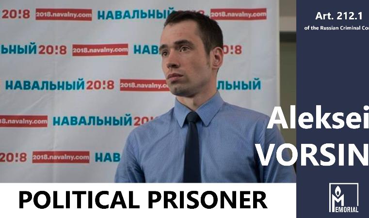 Aleksei Vorsin, head of Navalny's office in Khabarovsk, is a political prisoner