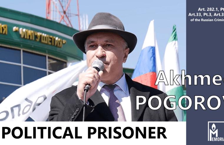 Akhmed Pogorov, a protest leader in Ingushetia, is a political prisoner