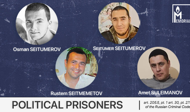 Four residents of Crimea, charged with involvement in Hizb ut-Tahrir, are political prisoners